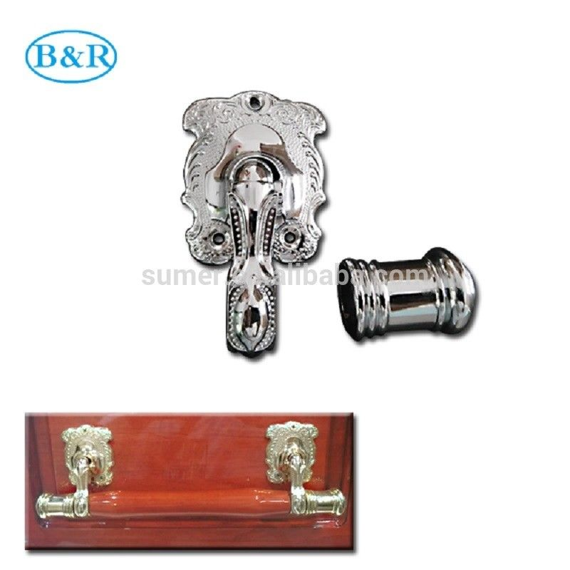 H057 Australia Style Metal Coffin Handles Zamak Fix bar handles